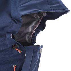 徒步旅行女式三合一夹克 RAINWARM 300 - 蓝色