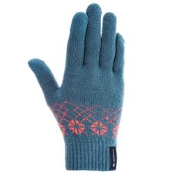 户外运动保暖 触摸屏儿童手套 QUECHUA Arpenaz 50 touchscreen children's hiking gloves