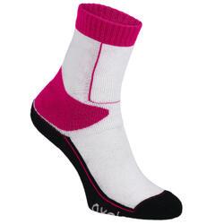 儿童直排轮袜子Play - Pink/White