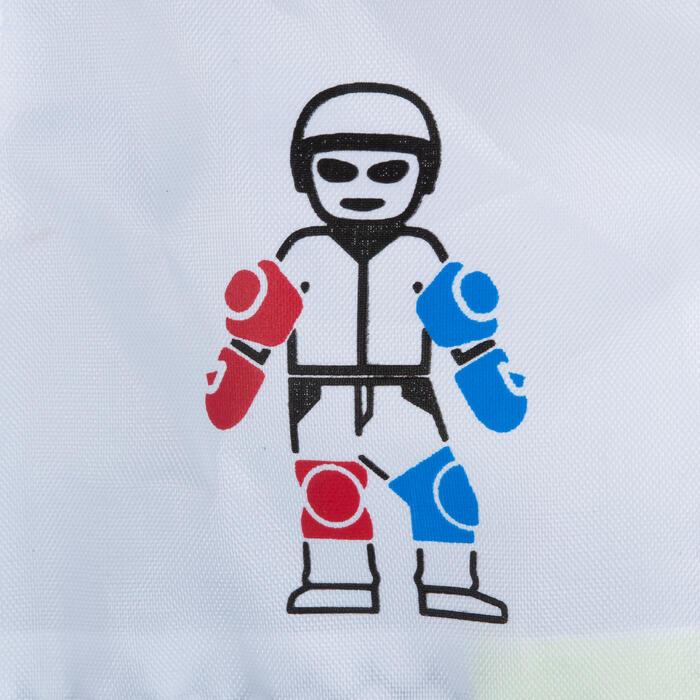 儿童直排轮护具Play - White/Turquoise