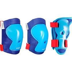 儿童溜冰,滑板,滑板车护具套装Play - Blue/Red