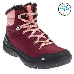 户外山地运动保暖防水抓地女式中帮登山鞋 QUECHUA Arp100 Mid Warm W