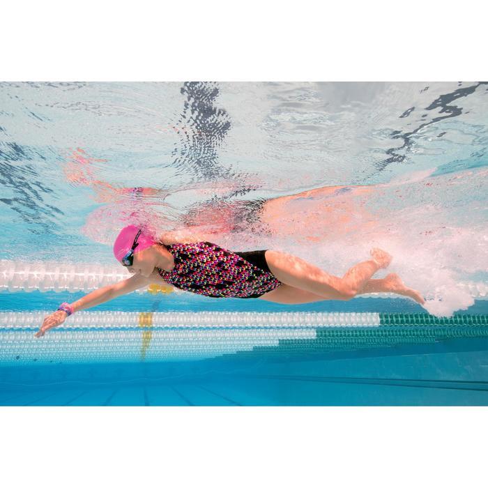 女童抗氯性连体式泳衣 Kamiye - Jely Black
