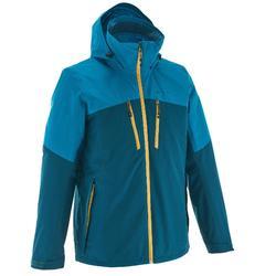 户外运动一衣三穿防水保暖男士三合一冲锋外套 QUECHUA JKT Rainwarm 500 3IN1