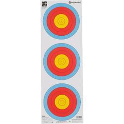 射箭运动国际箭联认证 抗撕裂40三联靶纸 GEOLOGIC