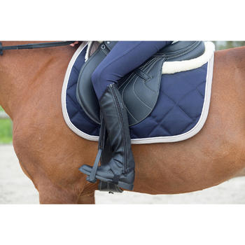 成人/儿童马术骑行靴子Classic -黑色
