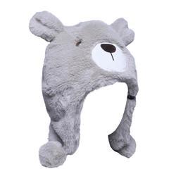 滑雪运动冬防寒保暖 生肖动物可爱小熊儿童青少年滑雪帽动物帽 WED'ZE