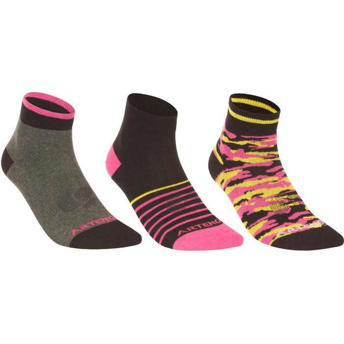 迪卡侬官网 ARTENGO RS160 球拍类运动 中帮袜 3双装