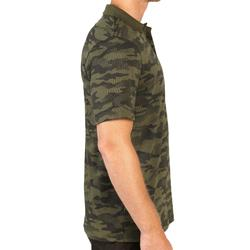 荒野探险纯棉短袖POLO衫-绿色迷彩