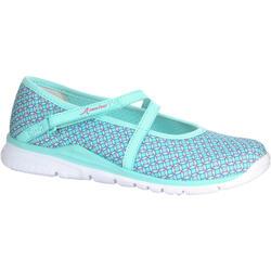 步行运动透气网面健步平跟青少年女士步行鞋休闲鞋 NEWFEEL Ballerina Pumps