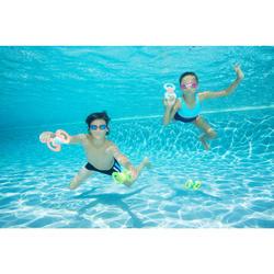 游泳眼镜100 XBASE S号 Blue Orange