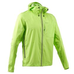 Men's Waterproof Fast Hiking Jacket FH500 Helium Rain - Aniseed