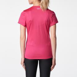 女式跑步运动快干T恤-粉色