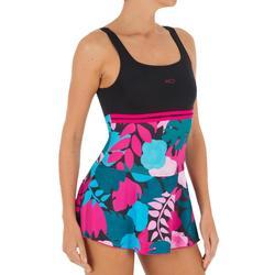 游泳运动弹力 抗氯 易穿脱 显瘦女士裙式连体泳衣 NABAIJI loran Flo