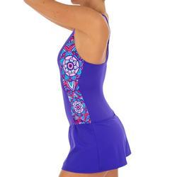 女式连体裙式泳衣Vega - Purple