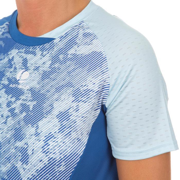 女士羽毛球运动T恤   淡蓝色