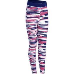 基础塑形/普拉提棉质舒适排汗透气童装女童5~14岁弹力紧身裤 DOMYOS