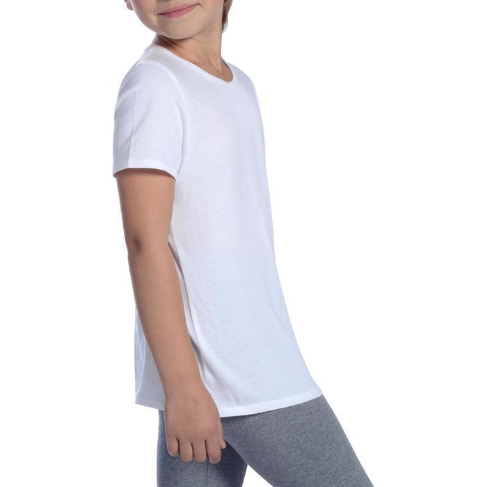 女童青少年体能训练短袖T恤100系列 - 白色