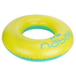 充气泳圈92 厘米yellow blue 大号 带快速阀门