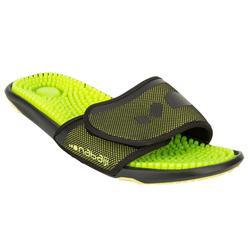 游泳运动防滑 排水 轻盈 按摩鞋底男士泳池拖鞋 NABAIJI topslap