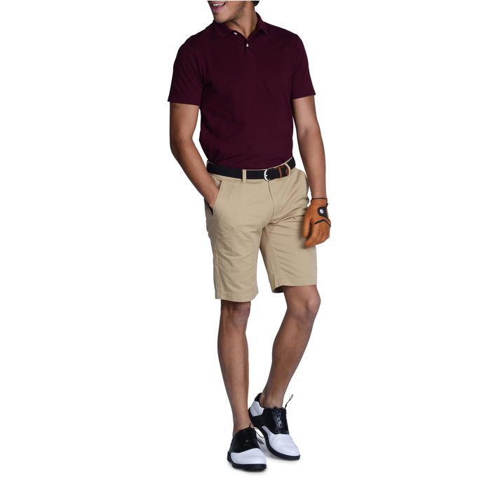 男士凉爽天气高尔夫Polo衫 500系列-紫红色