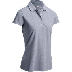 女士凉爽天气高尔夫Polo衫-浅灰