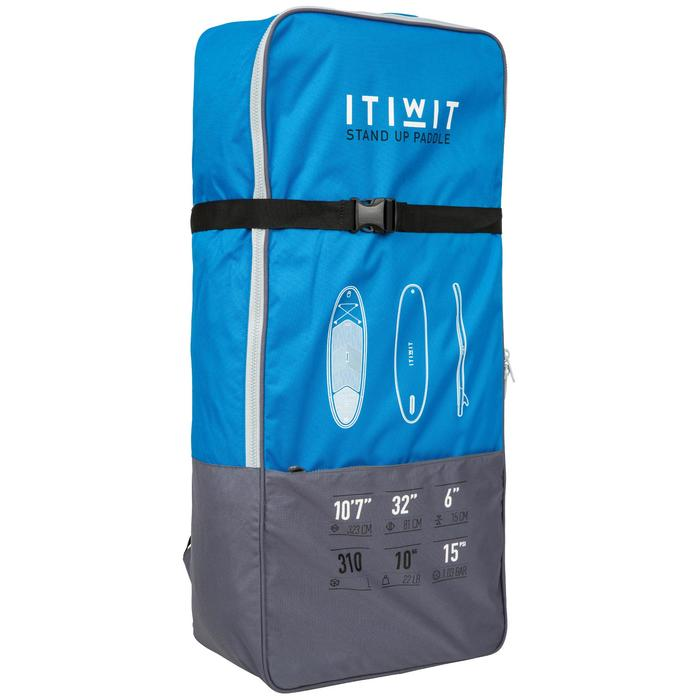 100 Inflatable 10'7 Touring Stand Up Paddle - Blue - 1132536