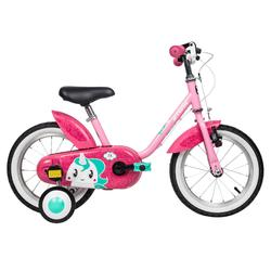 500 14-Inch Bike 3-5 Years - Unicorn