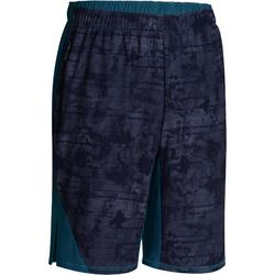 Muscle Fitness and Weight Training Shorts - Blue/Green