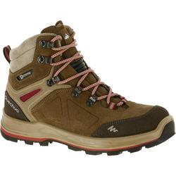 户外运动防水防滑抓地女式高帮登山鞋 QUECHUA Quechua Forclaz 500 women's waterproof hiking boots