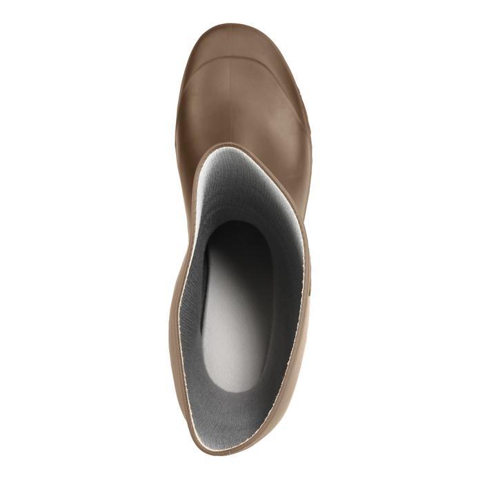 荒野探险高筒雨靴-棕色