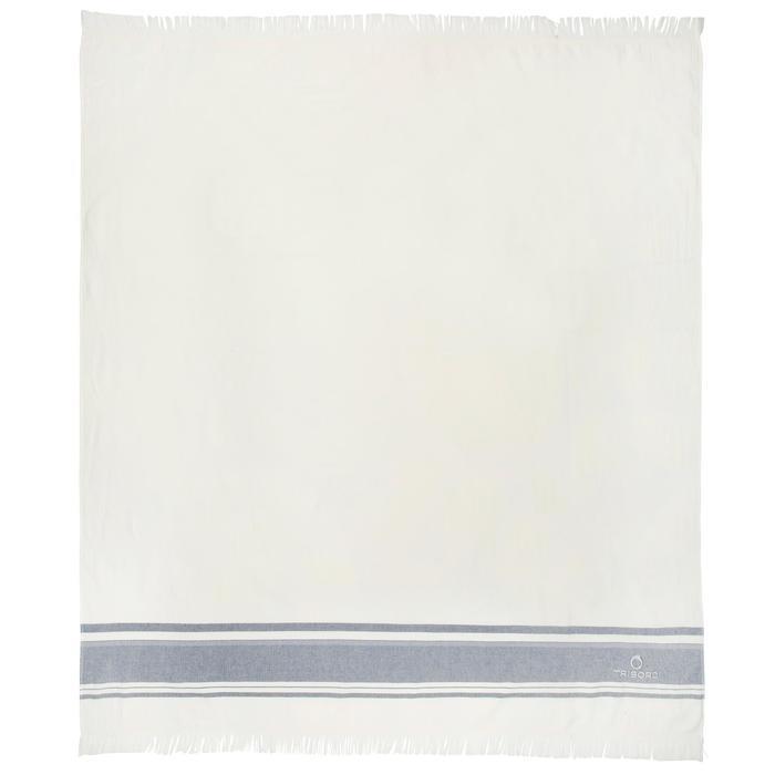 沙滩毛巾Fouta Double 170 x 150 厘米- Avorio Navy Blue