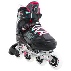 轮滑运动舒适可调节10-16岁儿童青少年直排轮轮滑鞋 OXELO Fit 5 Kids' Fitness Inline Skates