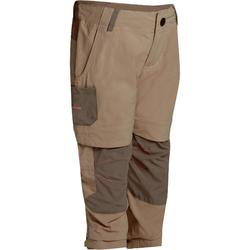 Hike 900 Children's Girl's Adjustable Hiking Trousers – Beige