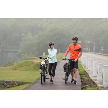 自行车运动6速V刹公路林间小径适用混合路面自行车 B'TWIN riverside 100 - 1158715