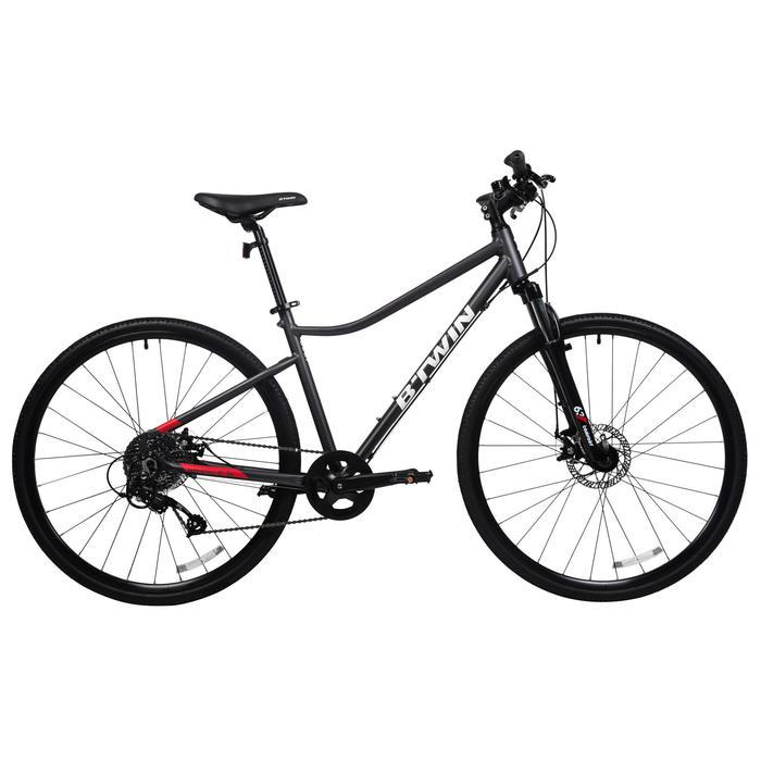 混合路面自行车Riverside 500- 灰色/红色