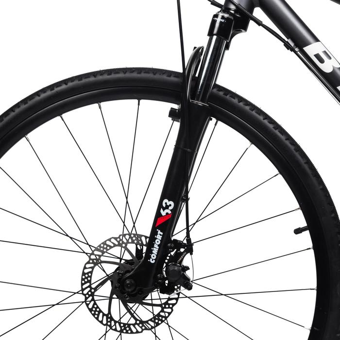 自行车运动9级变速公路和林间小径骑行混合路面自行车 B'TWIN riverside 500 - 1159294