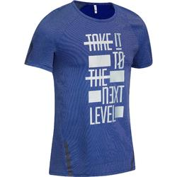 900 Microperforated Slim-Fit Gym & Pilates T-Shirt - Blue