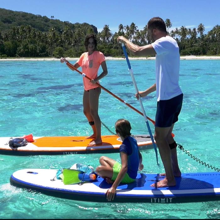 100 Inflatable 10'7 Touring Stand Up Paddle - Blue - 1171403