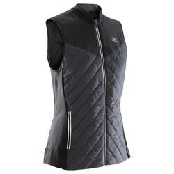 女式跑步运动无袖背心-黑色
