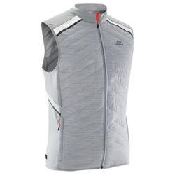 男式无袖跑步运动保暖马甲-灰色