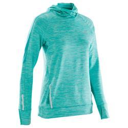 跑步运动保暖女士长袖连帽运动衫 KALENJI RUN WARM
