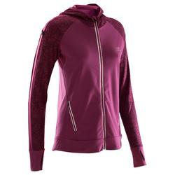 跑步运动保暖女士夹克连帽外套 KALENJI RUN WARM