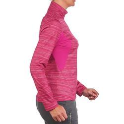 女式冬季徒步长袖保暖T恤 SH500 - 粉色