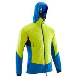 男式攀登隔热夹克 HYBRID SPRINT:荧光绿、蓝色