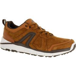 HW 540男士牛皮健步鞋 - 棕褐色