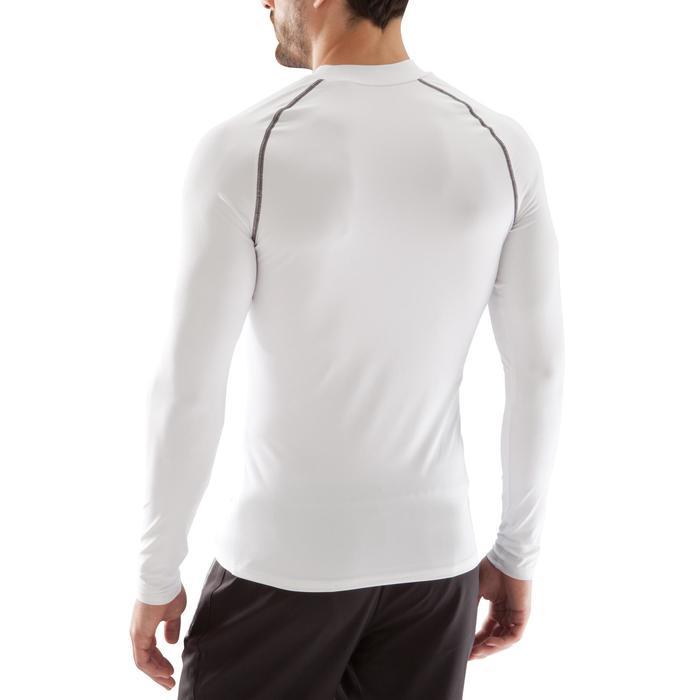 成人长袖训练紧身衣Keepdry 100 - 白色