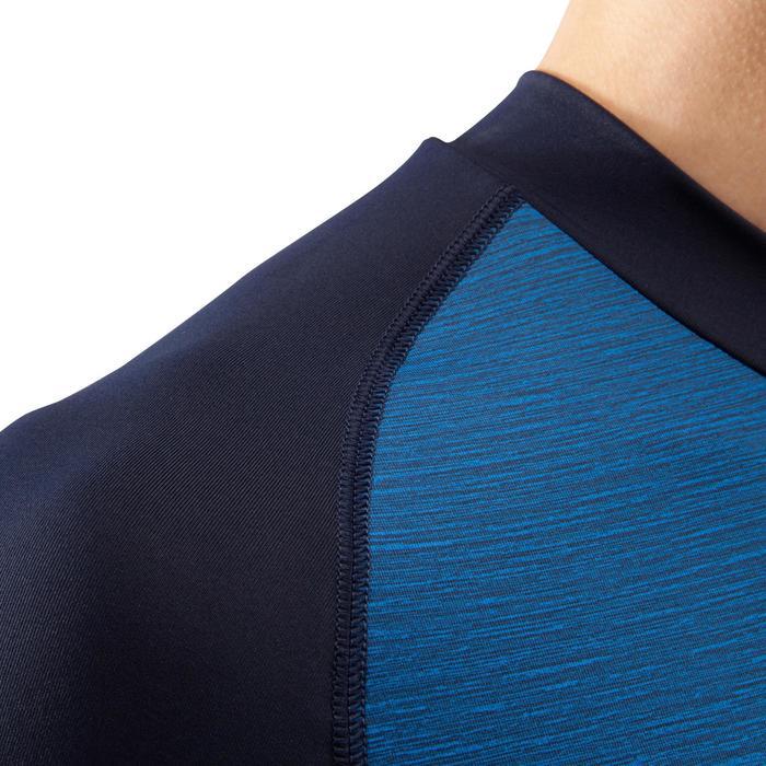 成人长袖训练紧身衣 Keepdry 100-蓝色
