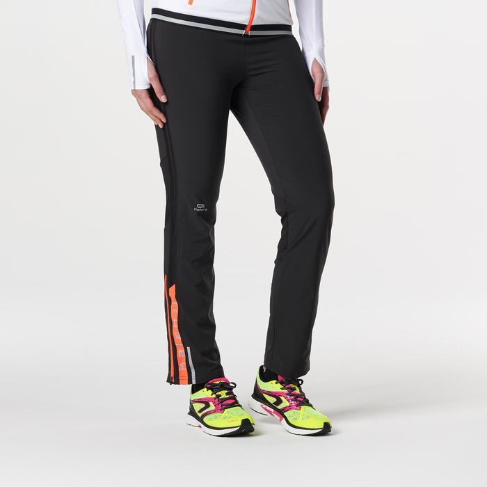 KIPRUN 女式跑步运动裤-黑色/珊瑚色