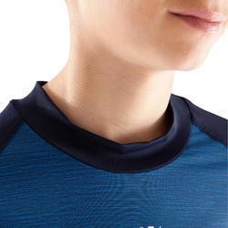 青少年长袖训练紧身衣 Keepdry 100 - 彩蓝色